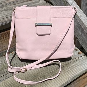 Talbots light pink leather crossbody bag